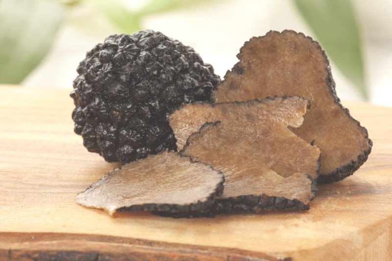 a truffle cut to show it's centre